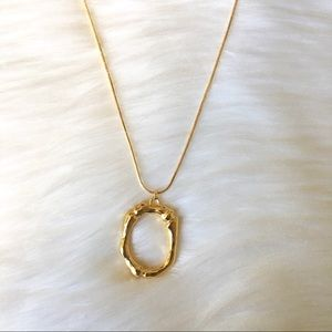 Final Price! Initial letter O GP  Bamboo Necklace